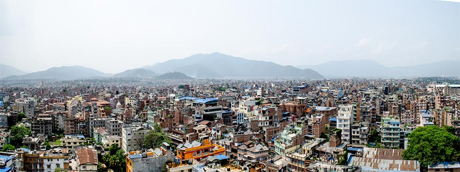 View of Kathmandu from the top of Dharahara Tower